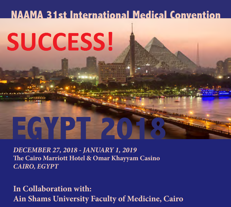NAAMA INTERNATIONAL CONVENTION – CAIRO, EGYPT DECEMBER 27, 2018- JANUARY 1, 2019