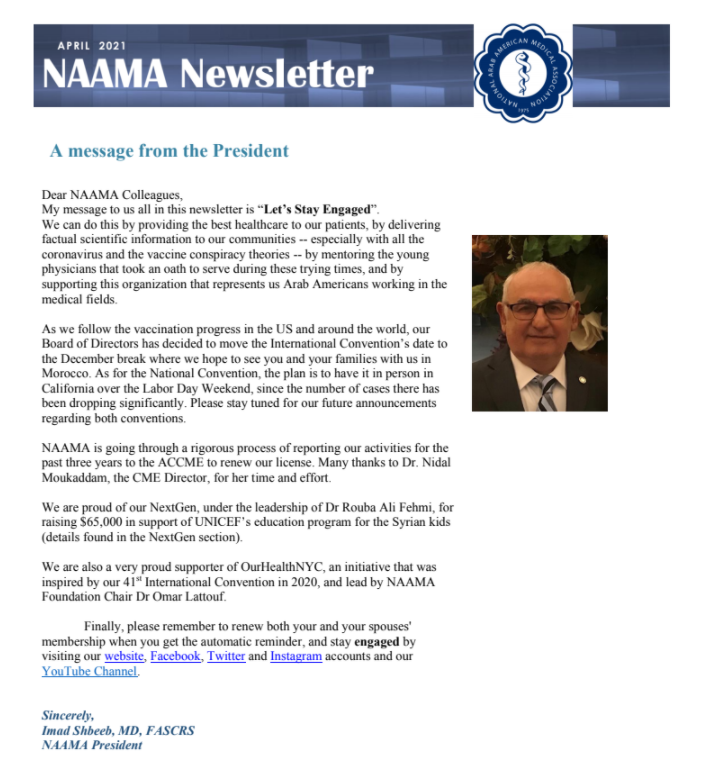 Read more about the article April 2021 Newsletter