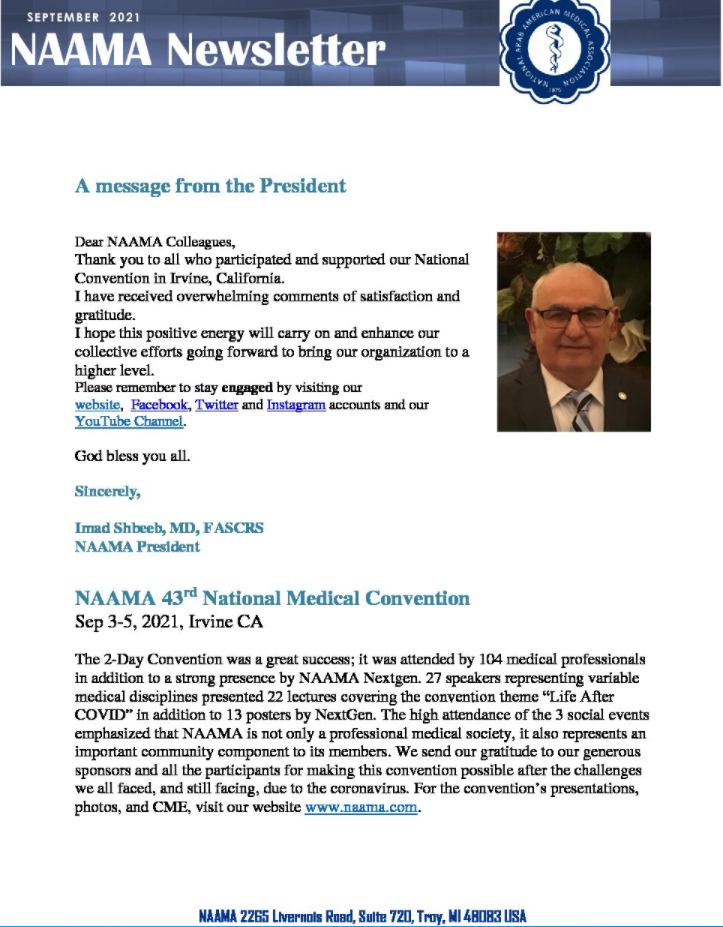 Read more about the article September 2021 Newsletter